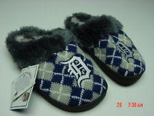 NWT Women's Detroit Tigers Scuff Slippers Furry Baseball Argyle Warm Fluffy New