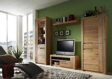 Massivholz Anbauwand 4tlg Kernbuche massiv geölt Wohnzimmer Schrankwand Wohnwand