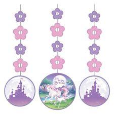 unicornio fantasía fiesta Colgante decorativo de Remolino Flores Color Púrpura