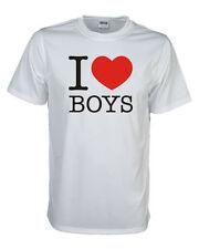 I love boys Fun T-Shirt, auch mit deinem Wuschtext möglich S bis 5XL (FSL014)