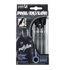 TARGET PHIL TAYLOR POWER 8ZERO BLACK TITANIUM DARTS SET - 21-25 grams 80%