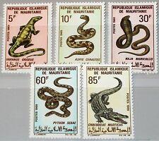 MAURITANIA MAURETANIEN 1969 364-68 261-5 Reptiles Reptilien Snakes Schlangen MNH