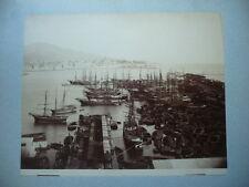 PHOTO  ANCIENNE   1890 GENES GENOVA ITALIE PORT DE PECHE