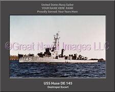 USS Huse DE 145 Personalized Canvas Ship Photo Print Navy Veteran Gift