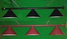 ROSETTA in pelle Pool Snooker Tavolo Luce Nera o Marrone Ombra Illuminazione Lampade