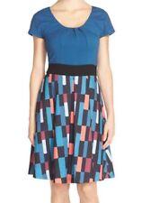 NEW Plenty by Tracy Reese Sondra Dress Fit & Flare Bright Tiles Blue Multi $198