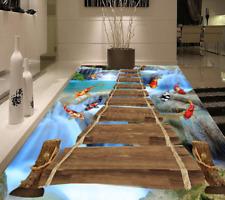 3D Fishs Bridge 562 Floor WallPaper Murals Wall Print 5D AJ WALLPAPER UK Lemon