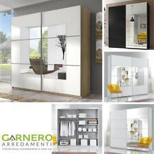 Armadio ante scorrevoli 180 specchio/legno/bianco/nero moderno scorrevole camera