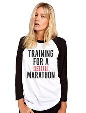 Training for a Netflix Marathon Tv Show Chill Womens Baseball Top Many Sizes
