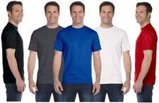 Mens Plain Premium Weight Cotton Fruit of Looms T-Shirts Round Neck UK S - 2XL
