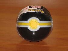 LUXURY Poke Ball Jakks Black White Yellow Red Soft Foam Pokemon PokeBall - NEW!