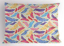 Native Feather Pillow Sham Decorative Pillowcase 3 Sizes for Bedroom Decor