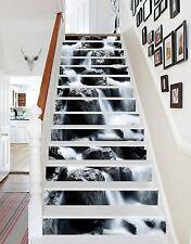 3D Fluss Stein 146 Stair Risers Dekoration Fototapete Vinyl Aufkleber Tapete DE