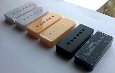 P90 Soapbar pickup covers: Black / White / Ivory cream; 50mm / 52mm pole spacing