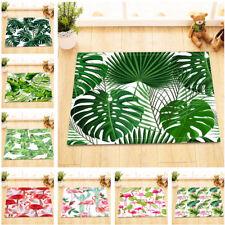 Tropical Leaves Flamingo Pattern Kitchen Bathroom Non-slip Bath Door Mat Bathmat