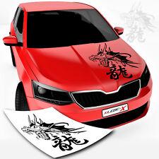 Drachen Autotattoo mit chinesischen Zeichen Dragon China Autoaufkleber