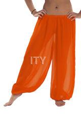 Orange Chiffon Harem Yoga Pant Belly Dance Halloween Pantaloons Trousers