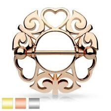 tribal hearts Piercing nipple shield