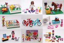 LEGO Friends Figure Animali Gatto Cucciolo ore Panetteria San Valentino bici e altro ancora