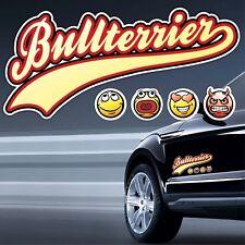 Auto Aufkleber BULLTERRIER - NUR LOGO OLD SCHOOL SIVIWONDER Sticker Bull Terrier