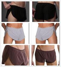 Hommes sexy Lingerie moyen augmenter Stretch pure sous sommeil Shorts Pant Pyjamas