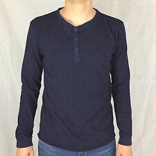 Edwin OARSMAN Henley Camouflage Shirt Dark Indigo i023151