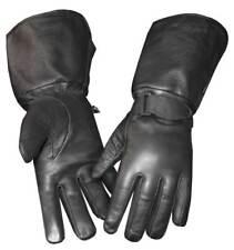 Redline Women's Gauntlet Fleece Gator Lining Leather Gloves, Black GL-053GS