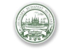 2 x Budapest Hungary Vinyl Sticker Travel Luggage #7093