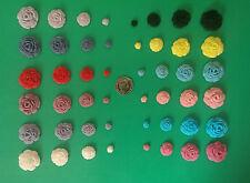 12 x Edible sugar rose flower cupcake cake toppers, decorations, wedding