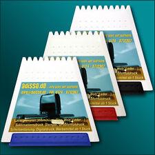 Trapez Eiskratzer mit farbiger Gummilippe inkl. 4-farbigen Fotodruck/ Logo/ Bild