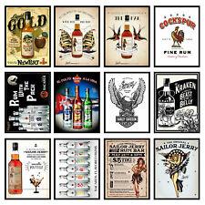 Alcohol Retro Metal Signs/Plaques Man Cave, Cool Novelty Gift, Bar/ Pub 11