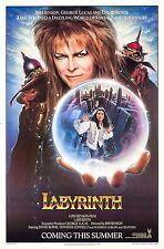 Labyrinth 1986 Retro  Vintage Movie Poster A0-A1-A2-A3-A4-A5-A6-MAXI 334