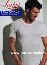 T-Shirt uomo Liabel mezza manica con esterno lana interno cotone art 5321-23MM