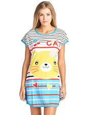 Casual Nights Women's Printed Dorm Scoop Neck Sleep T-shirt