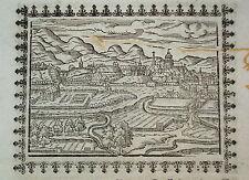Kassel Cassel  Hessen sehr seltener Holzschnitt von Saur 1585