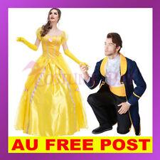 Beauty and The Beast Mens Royal Prince Charming Princess Bella Halloween Costume
