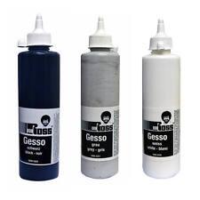 Bob Ross Gesso Primer para petróleo y pintura de acrílico en negro, blanco o gris 500ml
