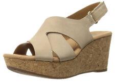 New Clarks Annadel Fareda Women Leather Wedge Sandals