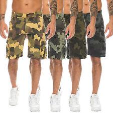 Herren Cargo Shorts Bermuda Camouflage Hose Sommershorts kurze Hose H-114 NEU