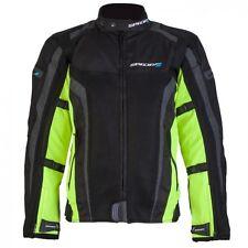 SPADA CORSA GP AIR WATERPROOF MOTORCYCLE jacket SPORTS SUMMER MESH BLACK FLUO