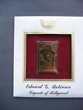 2000 Edward G Robinson Hollywood Legends 22kt Gold Golden Cover replica STAMP