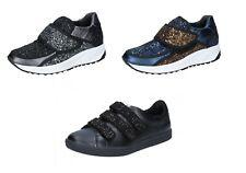 d3d7f1060503a0 LIU JO scarpe donna sneakers blu nero glitter bronzo grigio pelle camoscio