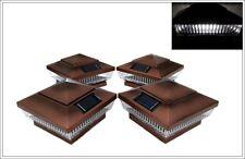 2-Pack Solar Copper Post Cap Led Lights For 6 X 6 Pvc Vinyl or Wood Fence Post