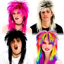 80's Rocker Wigs Adults Fancy Dress Rock Pop Star Mens Ladies 1980s Costume Wigs