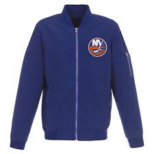 NHL New York Islanders JH Design Lightweight Nylon Bomber Jacket Royal