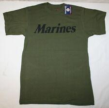 """ Marines ""  OD GREEN MENS  T-Shirt  USMC  PT  T-SHIRT S-4X"