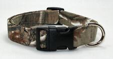 Real Tree Camouflage Camo Dog Collar Adjustable Handmade Custom Designer