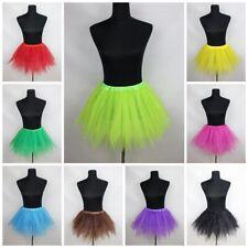 Tütü Röcke 12 Farben Tüllrock Petticoat Tutu Ballett gezackt Fasching Kleid NEU