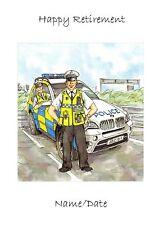 Tarjetas personalizadas para todas las ocasiones coche de policía, bicicleta de policía, policías de tráfico