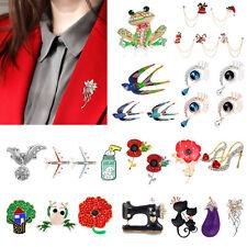 Angel Tears Brooches Elegant Metal Badges Women Dress Sweater Lapel Collar Decor